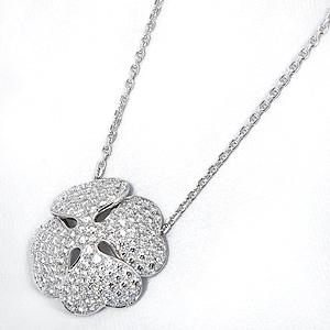 クローバーモチーフ ダイヤ ネックレス