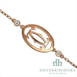 ロゴ ドゥーブルC ダイヤ ブレスレット
