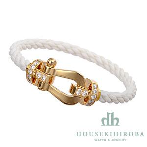 フォース10 ハーフダイヤ ブレスレット ホワイトテキスタイル