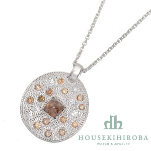タリスマン バビロニアンサンメダル ダイヤ ペンダントネックレス