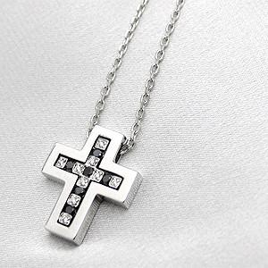 ベルエポック ダイヤ・ブラックダイヤ ペンダントネックレス(XS)