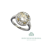 CIRCULAR CUT DIAMOND DIAMOND SOLITAIRE RING D 3.184ct