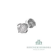 DIAMOND PIERCED EARRINGS (single) D 1.060ct