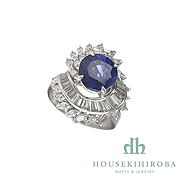 SAPPHIRE MARQUISE DIAMOND taper - DIAMOND RING
