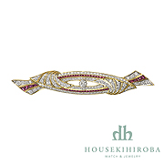 RUBY DIAMOND BROOCH