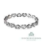 C HEART FULL DIAMOND BRACELET