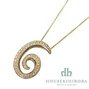 TALISMAN number 6 DIAMOND PENDANT NECKLACE