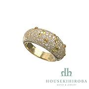 Aimay CITRINE PAVE DIAMOND RING