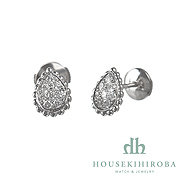 SERPENT BOHEME DIAMOND studs PIERCED EARRINGS (XS)