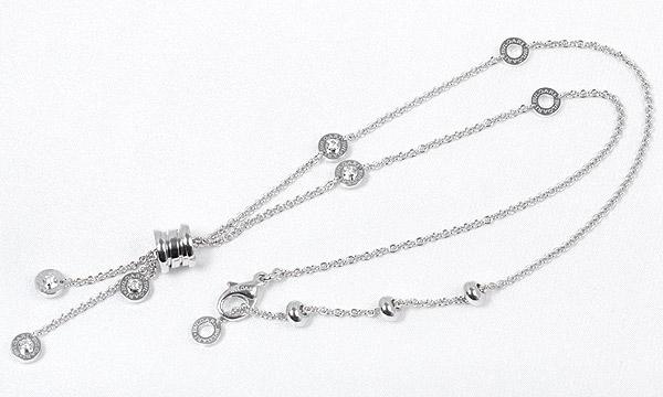 ビーゼロワン 10Pダイヤ プレーンネックレス