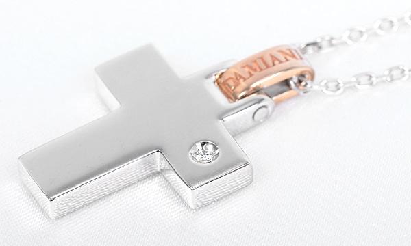 リフレックスクロス 1Pダイヤ ペンダントネックレス(S)