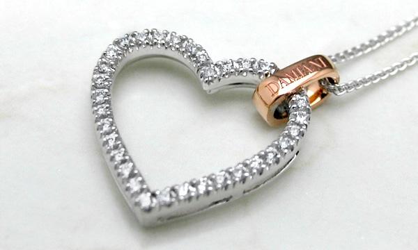 クラシック ロゴ ダイヤ ペンダントネックレス(M) ハート
