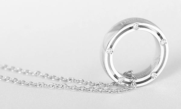 Dサイド ロング 10Pダイヤ ネックレス