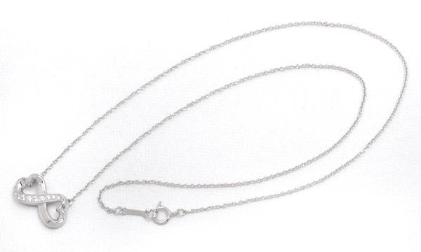 ダブルラビングハート ダイヤ ネックレス
