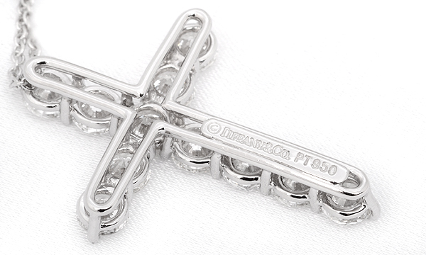 クロス ダイヤ ペンダントネックレス(L)