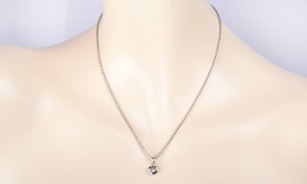 ハッピーダイヤモンド ハート 1Pダイヤ ペンダントネックレス