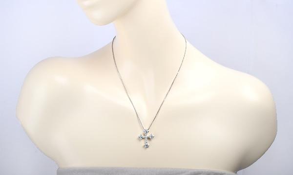 ダイヤ クロス ネックレス