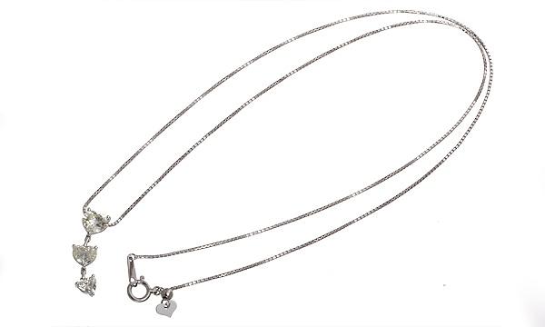 ハートシェイプ3Pダイヤ ネックレス