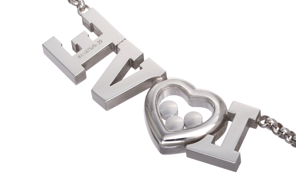 ハッピーダイヤモンド LOVE 3Pダイヤ・ダイヤ ネックレス