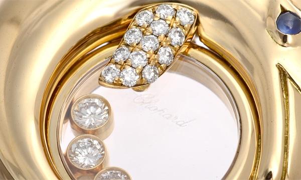 ハッピーダイヤモンド ドルフィン 3P・1Pサファイア・パヴェダイヤ ペンダントネックレス