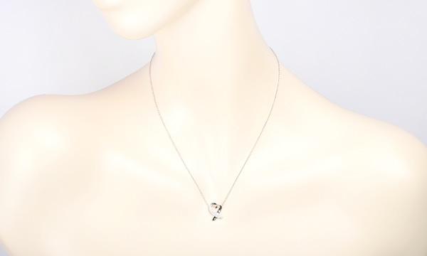 ラビングハート ダイヤ ネックレス