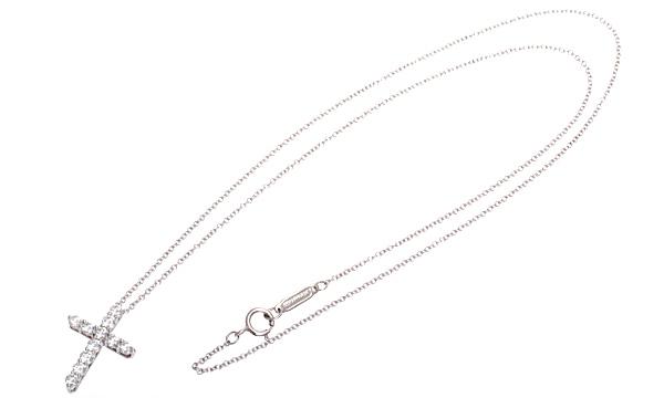 クロス ダイヤ ペンダントネックレス(S)