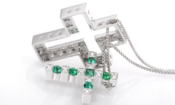 ベルエポック エメラルド・ダイヤ ペンダントネックレス(S)