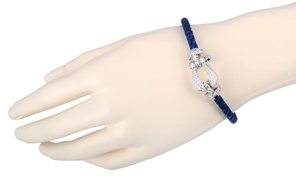 フォース10 ダイヤ ブレスレット ブルージーンスティール