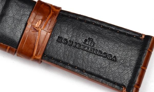 宝石広場オリジナル ラジオミール用ストラップ クロコダイル 尾錠0用 ブラウン 27‐22mm