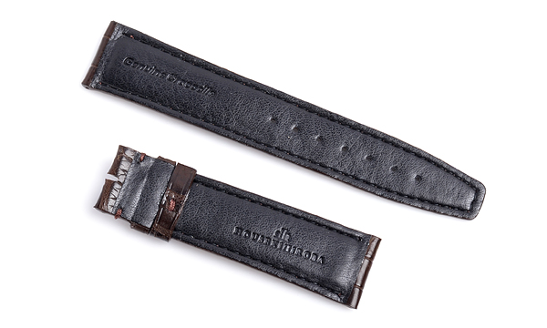 宝石広場オリジナル IWCポルトギーゼクロノ用ストラップ クロコダイル 尾錠用 ブラウン/ブラウン 20‐18mm
