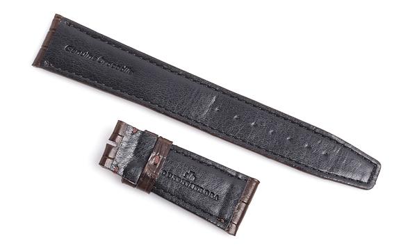 宝石広場オリジナル IWCポルトギーゼオート用ストラップ クロコダイル バックル用 ブラウン/ブラウン 22‐18mm