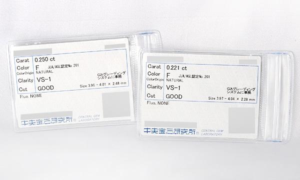 ピアス用カスタムチェーン ダイヤ D 0.250ct /0.221ct