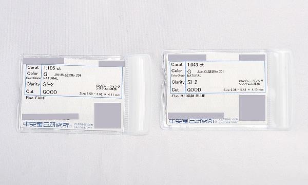 ダイヤピアス D 1.105ct /1.043ct