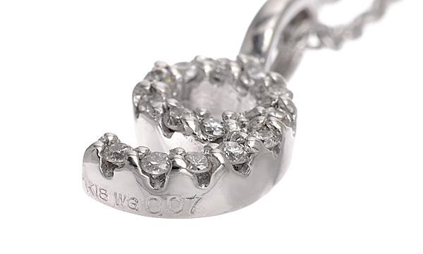 9モチーフ ダイヤ ペンダントネックレス