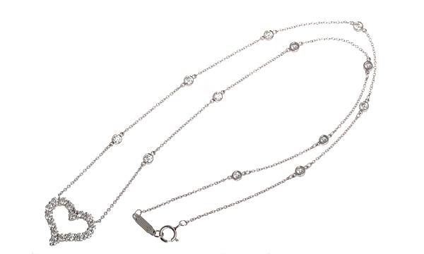 センチメンタルハート ダイヤ 12Pダイヤチェーンネックレス