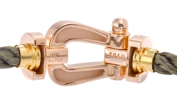 フォース10 フルダイヤ ブレスレット 17 ネイビースティール&カーキスティール