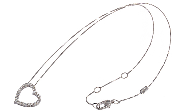 ハートモチーフ ダイヤ ペンダントネックレス