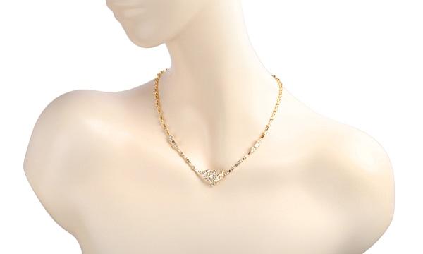 エメラルドカットダイヤ・バゲットダイヤ・ダイヤ ネックレス