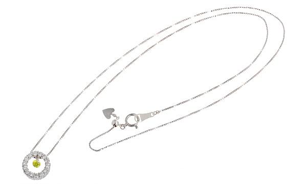 カラーダイヤ(トリートメント)・ダイヤ ペンダントネックレス