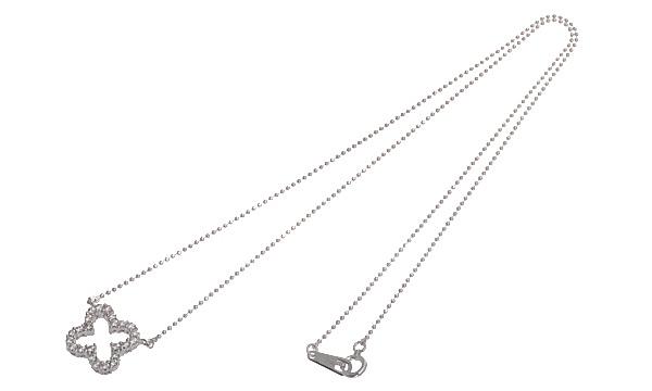 クローバー ダイヤ ネックレス