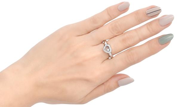 ハッピーダイヤモンド ハート 1Pダイヤ・ダイヤ リング