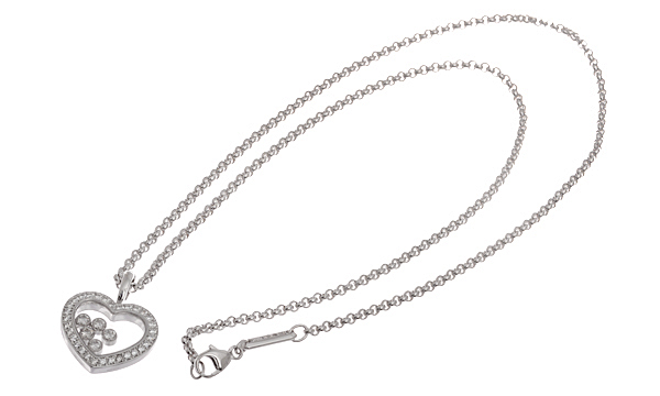 ハッピーダイヤモンド ハート 5Pダイヤ・ダイヤ ペンダントネックレス