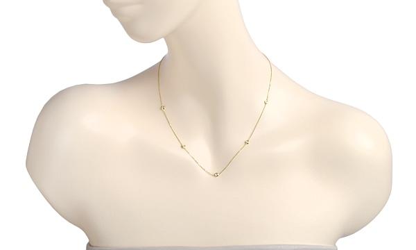 5Pダイヤ ネックレス