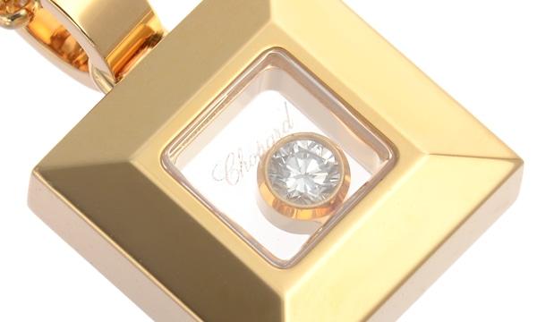 ハッピーダイヤモンド スクエア 1Pダイヤ ペンダントネックレス