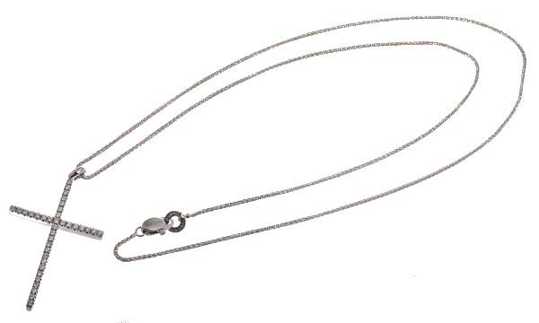 ミステリークロス ダイヤ  ペンダントネックレス(L)