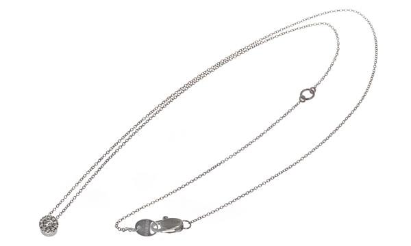 クリスタル ダイヤ ネックレス