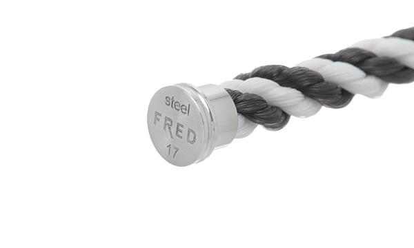 フォース10 ブラック/ホワイト テキスタイル ケーブル 17