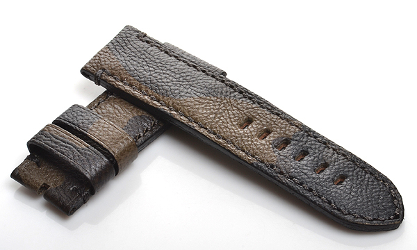 宝石広場オリジナル パネライ用ストラップ カーフ カモフラージュ 26‐26mm