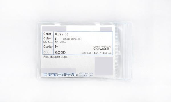 ダイヤ ピアス(シングル) D 0.727ct