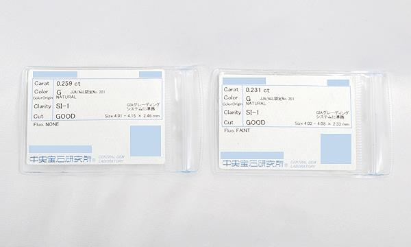 ピアス用カスタムチェーン ダイヤ D 0.259ct /0.231ct